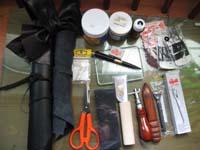 皮革の道具たち